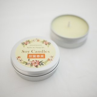Cottage No. 12. Wen Qing small green travel - Fragrance soybean candle (spring sweet fruit) portable tank