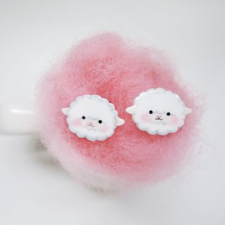 Soft sheep hand earrings sheep anti-allergy ear pin painless ear clip