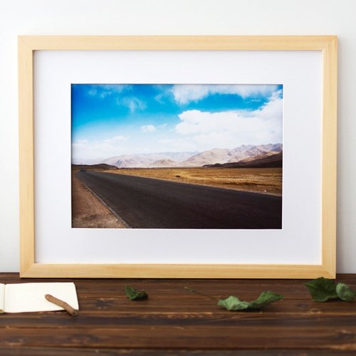"Tour Tu | Travel photography decorative painting ""Road"" original scenery of Tibet Cafe Modern Home Gifts"