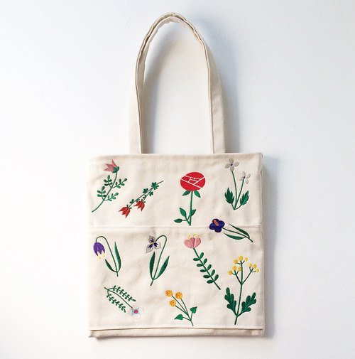 Wildflower Canvas Tote