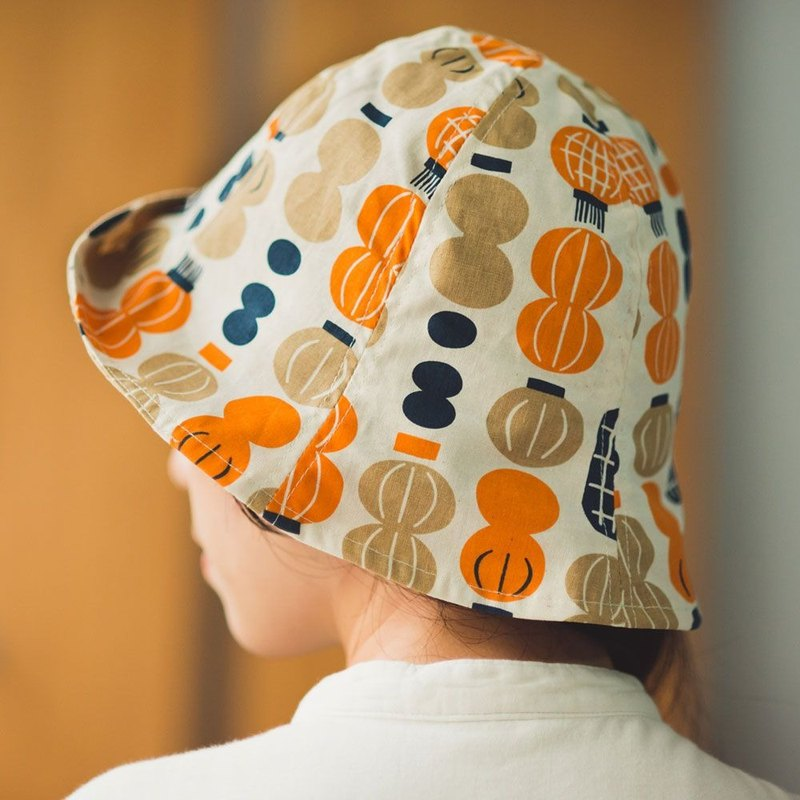 Sun Hat / Milly Collection / Paper Lantern / Orange & Blue