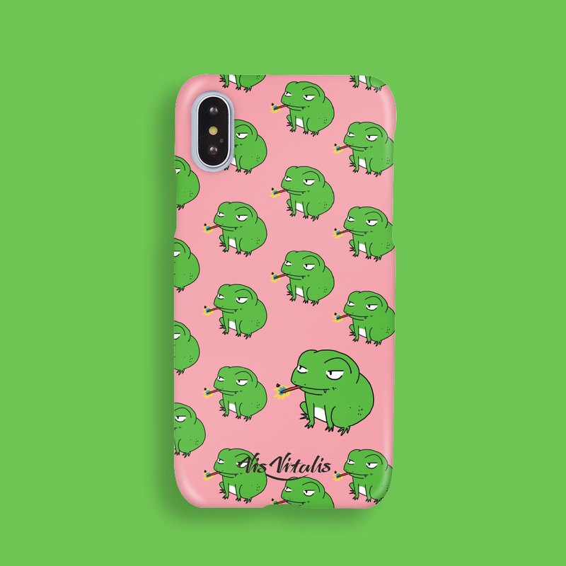 Frog has something / matte matte hard shell / phone case