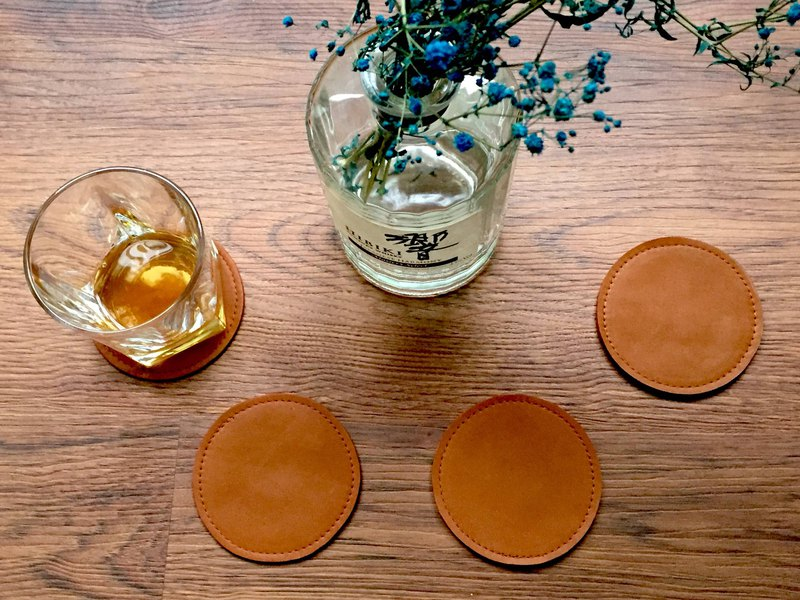 【Beam】 Leather coasters leather / leather / leather / whiskey
