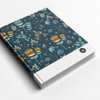 Rococo Strawberry WELKIN Handmade _ Handmade Book/ Notebook/ Pocket Journal/ Diary - Night Garden