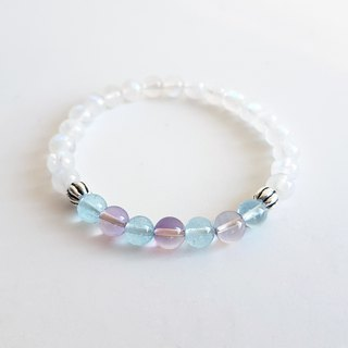 Luna God High Quality Natural Moonstone Topaz Amethyst 925 Silver ‧ bracelet
