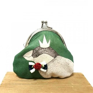 Coin canvas purse of fashionable Java sparrow