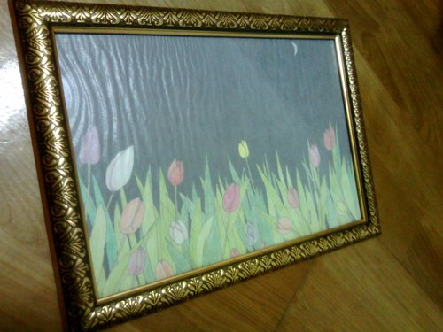 〗 〖Night tulips (including frame)