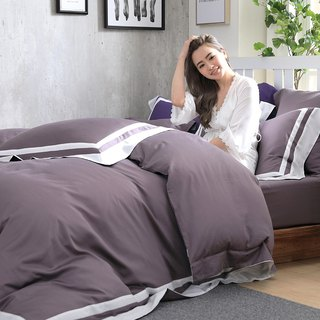(Double size) Dream original color tone - fog purple 60 cotton multi-layer design bed package four-piece group
