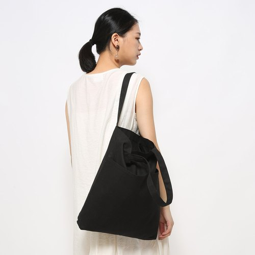 Five bags of canvas bag particularly easy to use - mysterious black