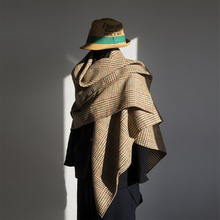 Houndstooth - Classic Earth Colors Flower Shawl