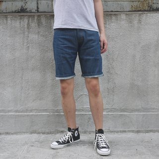 Unwashed Selvedge Denim Shorts/redline/summer/unisex/cotton/indigo/