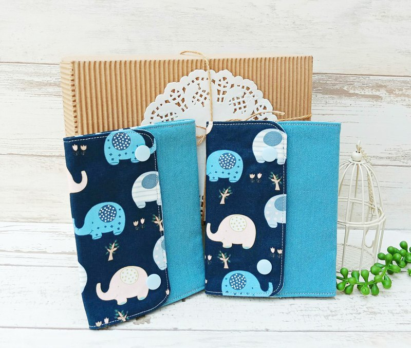 [baby bag slobber] blue elephant