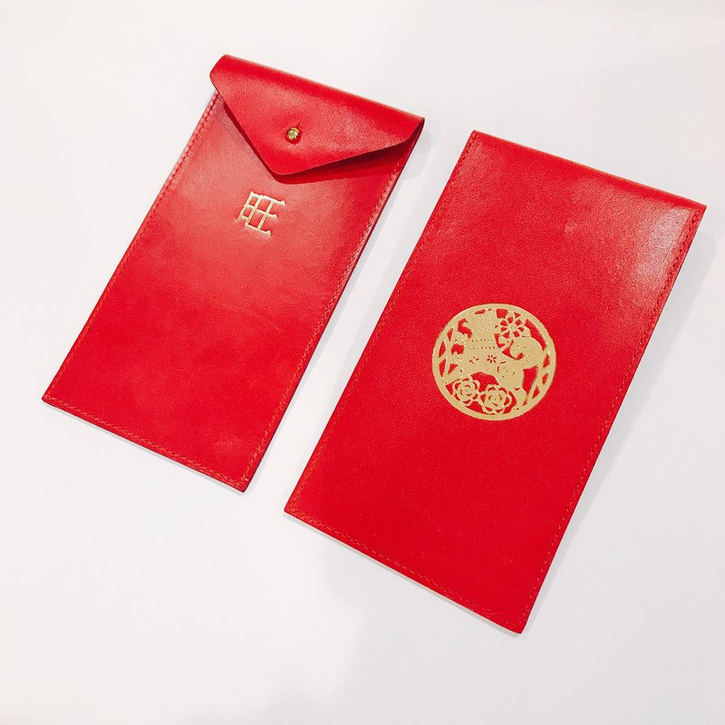【La Fede】 Dog years want to run the leather bag red envelope (limited edition sale)
