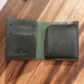 Cards, banknotes, change, minimalist, short clip, vegetable tanned leather, custom (/birthday) preferred