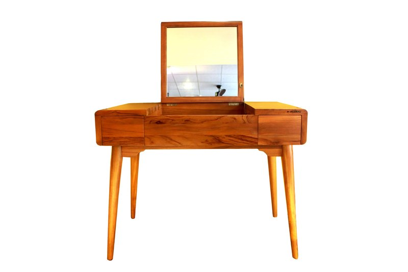 Estilo teak lid double-drawing dressing table Estilo Dessing Table (buffer hardware)