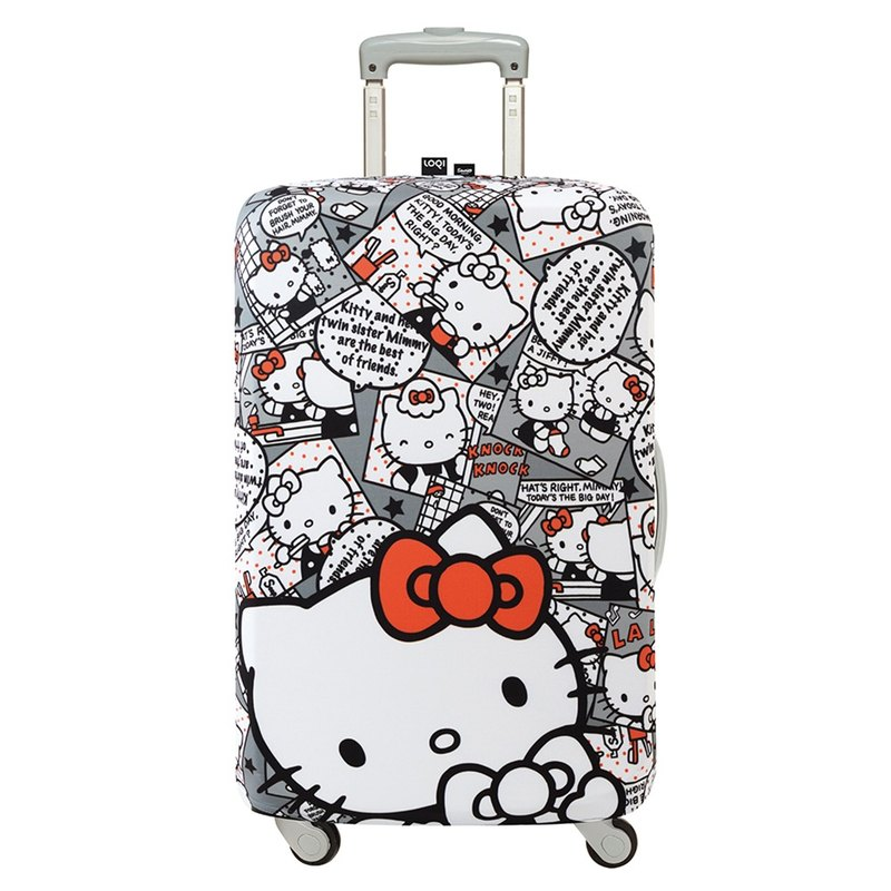 LOQI suitcase jacket / KITTY cartoon gray 【M】