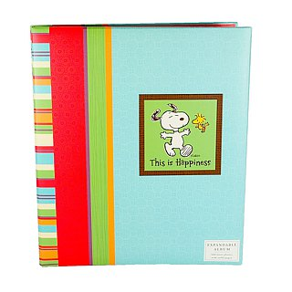 Snoopy Happy Memories Aquamarine Album, 16 pages [Hallmark-Non-acid Photo Book / Album]
