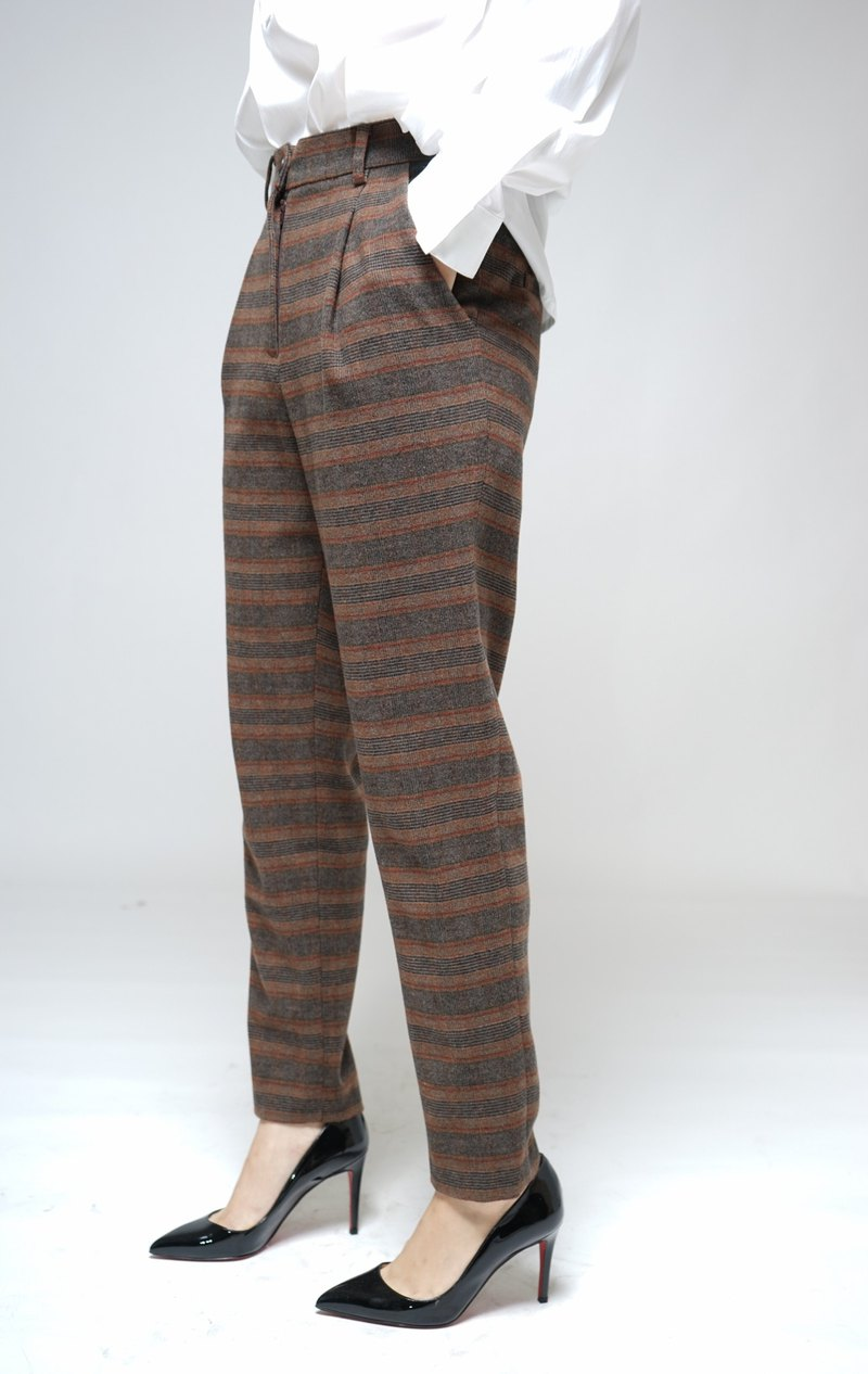 MIT British Plaid wool classic pants