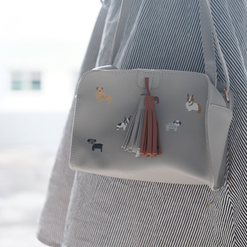 Dogs Tassel Box Bag