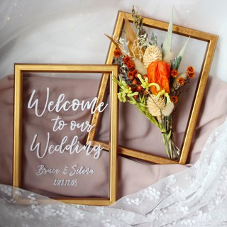 Wedding Welcome Table Flower Frame Set-F03