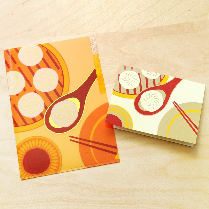 Xiaolongbao - Taiwanese Style 3-Section A5 File Folder & Card Set