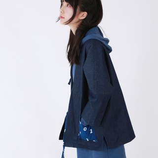 Fete {} the first day of overalls robe autumn blue denim jacket women