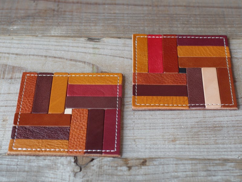 Nume leather mosaic coaster (F)