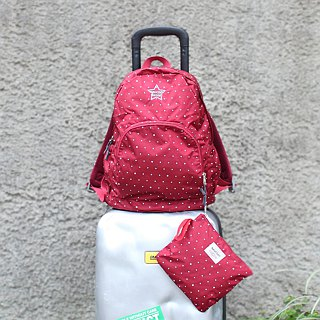 Light-Fold Stars Water Stop Backpack(14'' Laptop OK)-Red_100328-20