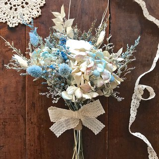Masako blue elegant dry bouquet eternal flower