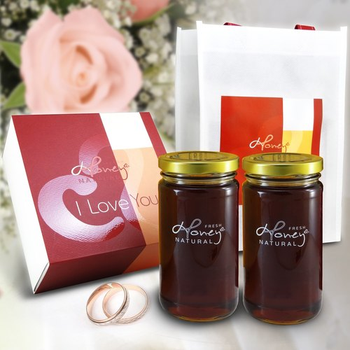 Mango athlete: Honey Bee Chun I Love You Honey mango flower honey pure treasure boxes 2 bottles into the bottle 460 grams