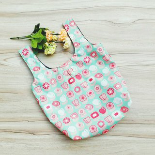 [Waterproof Shopping Bag] Fresh Flowers (Large)