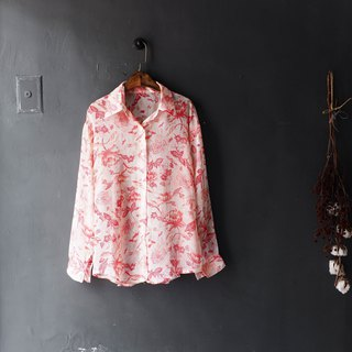 Kawamiyama - Fukui micro powder youth love log antique silk spinning shirt shirt shirt oversize vintage