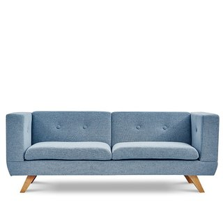 AJ2 │ │ my column │ personality blue and gray three-seat sofa