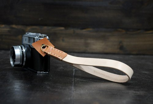 Handmade leather camera strap (multicolor) color series