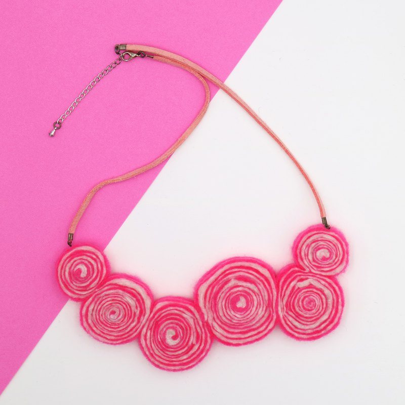 Lollipop Necklace – Pink