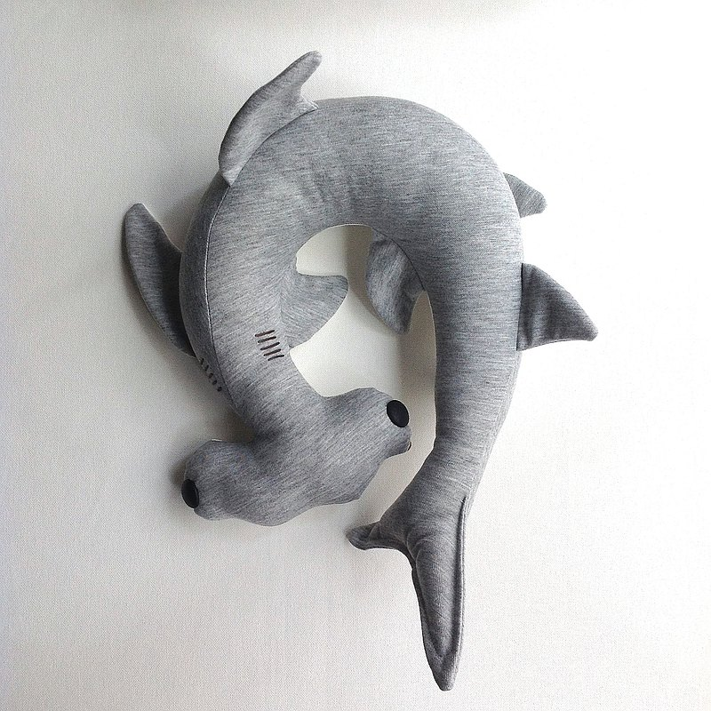Design No.HS191 - 【3D Pattern】Hammerhead Shark Travel Neck Pillows