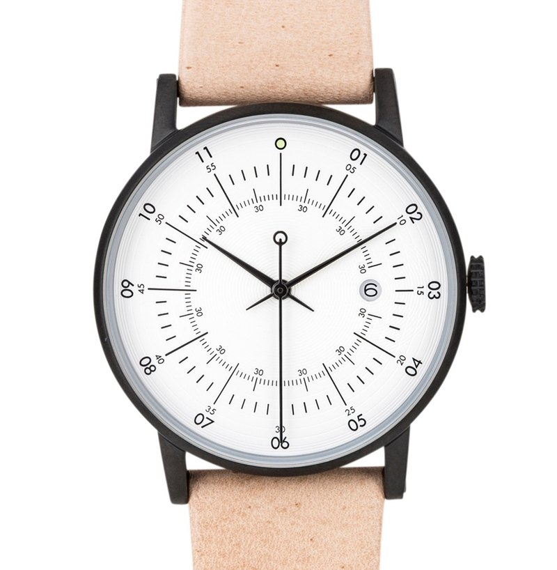 Scandinavian design watch with Nordic reindeer leather strap SQ38 Plano PS-11