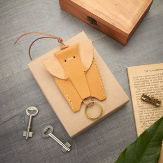 Elephant Leather Key Holder - Vegetable tanned key holder - Key Wallet - Leather