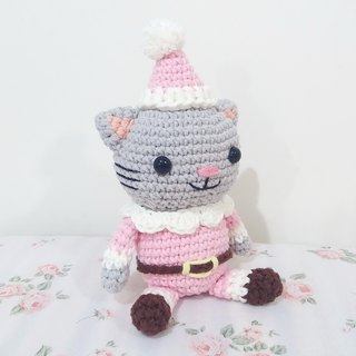 Trainee Christmas Cat Santa Cat Trainee Handmade Crochet