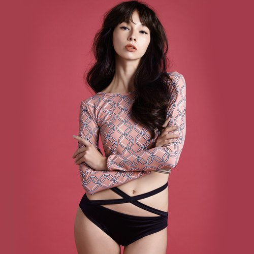 Wang - Two piece Swimwear - Color:Blossom/Midnight (CREX82)