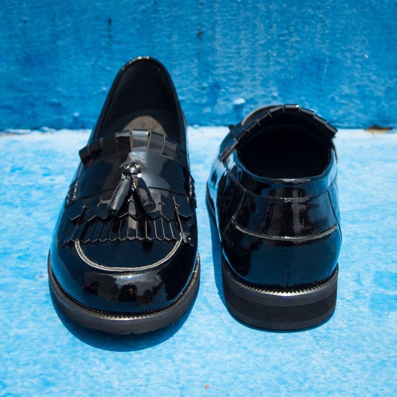 REGENT典雅流蘇樂福鞋 - 黑/ Double Fringe Tassel Loafer-Black