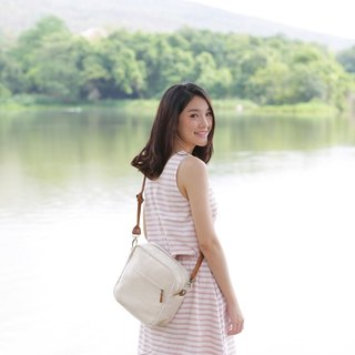 Cross-body Bags Little Tan Extra Bags Hand Woven Cotton Natural Color