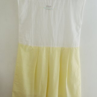 Natural Cotton Pleated Dress - Geometry