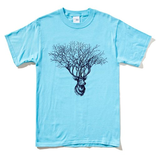 Deer Tree light blue t shirt