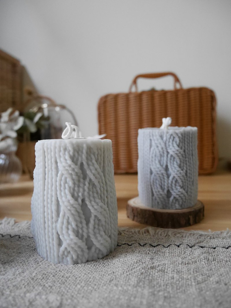 Curlyyuu Natural Soy Scented Candle-Curly Wool Candle