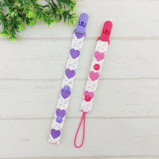 Classic love - rose, lavender. Hand pacifier chain / chain Toys - button and drawstring formula (vanilla pacifier use) (adjustable length) (handkerchief folder has the same paragraph, peace symbol bags)