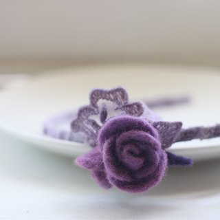 Romantic purple rose headband natural plant dyed comfrey cochineal with blue dyed to make money