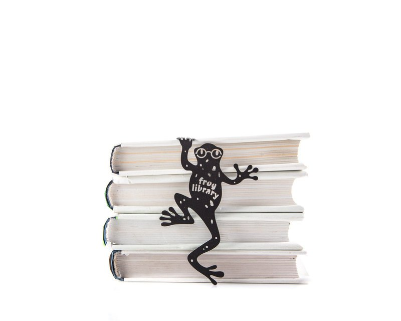 Unusual bookmark // Frog Library // Free shipping worldwide
