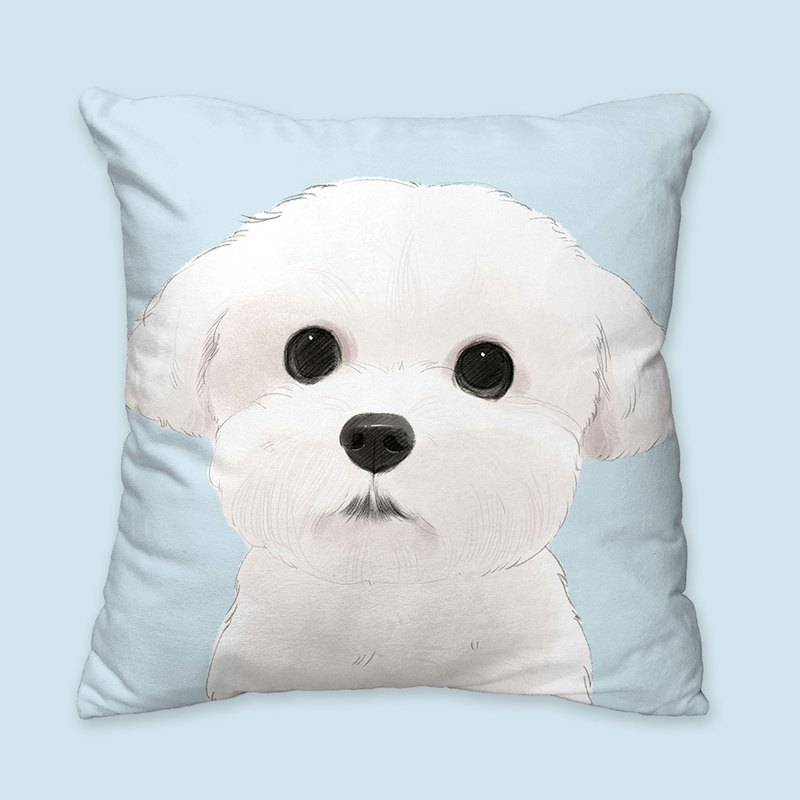 [I will love you forever] Meng face Mal animal dog pillow / pillow / cushion