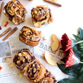 Sazu Coffee Series • Aromas are squeezing with icing sugar Apple Walnut cinnamon rolls in a box of 3 babies**Please contact us before ordering**